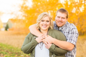 Bozeman Engagement Session - Couple standing in fall colors