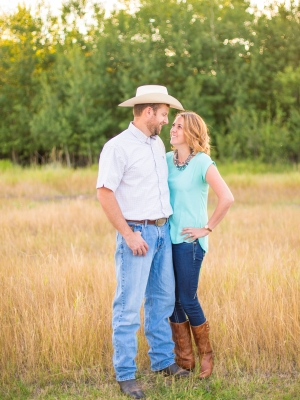 Bozeman Engagement Session - Couple posed on summer day in Bozeman
